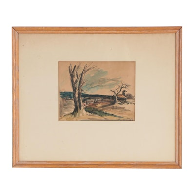 Landscape Watercolor Painting, 1936