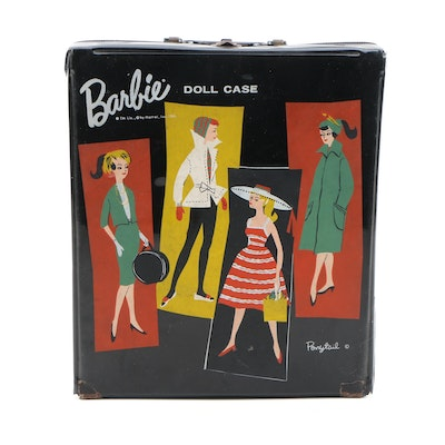 Vintage Barbie Doll Clothing and Accessories with Carrying Case, 1960s