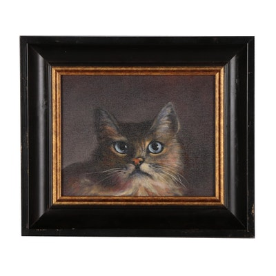 John Neal Mullican Oil Painting of Cat