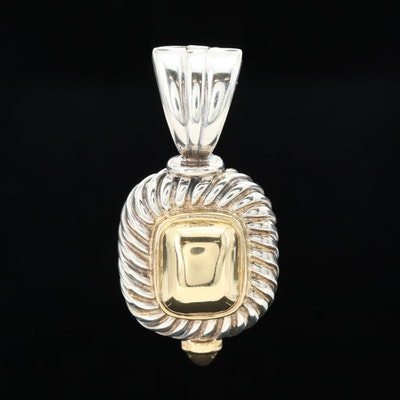 Sterling Silver and 18K Yellow Gold Pendent