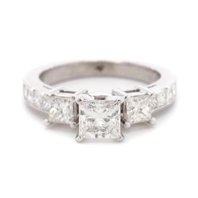14K White Gold 1.71 CTW Diamond Ring