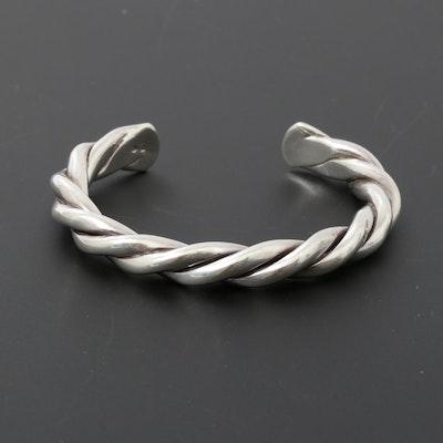 Silpada Sterling Silver Rope Twist Cuff Bracelet