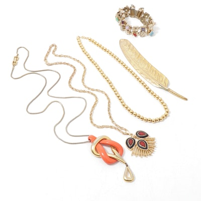 Vintage Jewelry with Givenchy, Miriam Haskell and Sarah Coventry