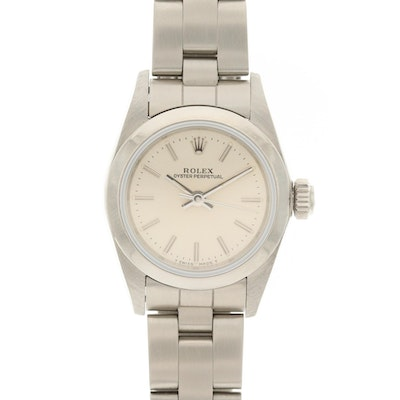 1988 Rolex Oyster Perpetual Stainless Steel Wristwatch