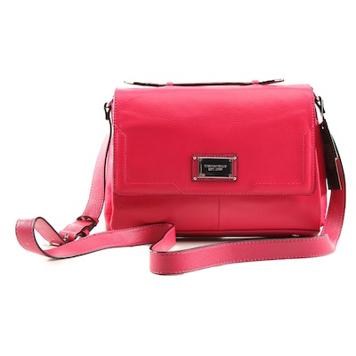 Tignanello Leather Crossbody Satchel with RFID Credit Card Slot Protection