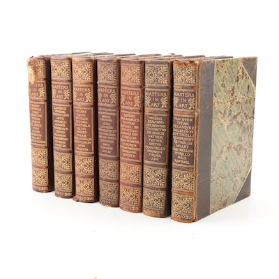 "Bound ""Masters in Art: A Series of Illustrated Monographs"", Seven Volumes"