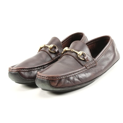 Men's Gucci Brown Leather Horsebit Loafers