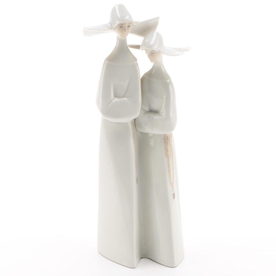 "Lladró ""Nuns"" Porcelain Figurine"
