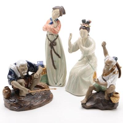 Chinese Heuschen-Schrouft Porcelain Figurines, Mid-20th Century
