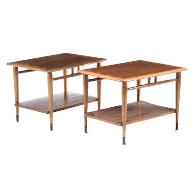 "Mid Century Modern Lane ""Acclaim"" Walnut End Tables"