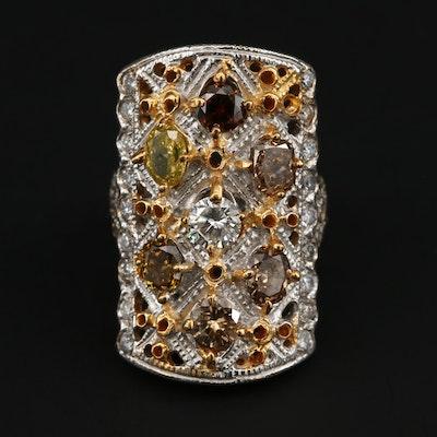 18K White Gold 3.09 CTW Diamond Pointer Ring