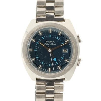 Vintage Bulova Wrist Alarm Stem Wind Wristwatch