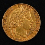 1850-A France 20-Franc Gold Coin