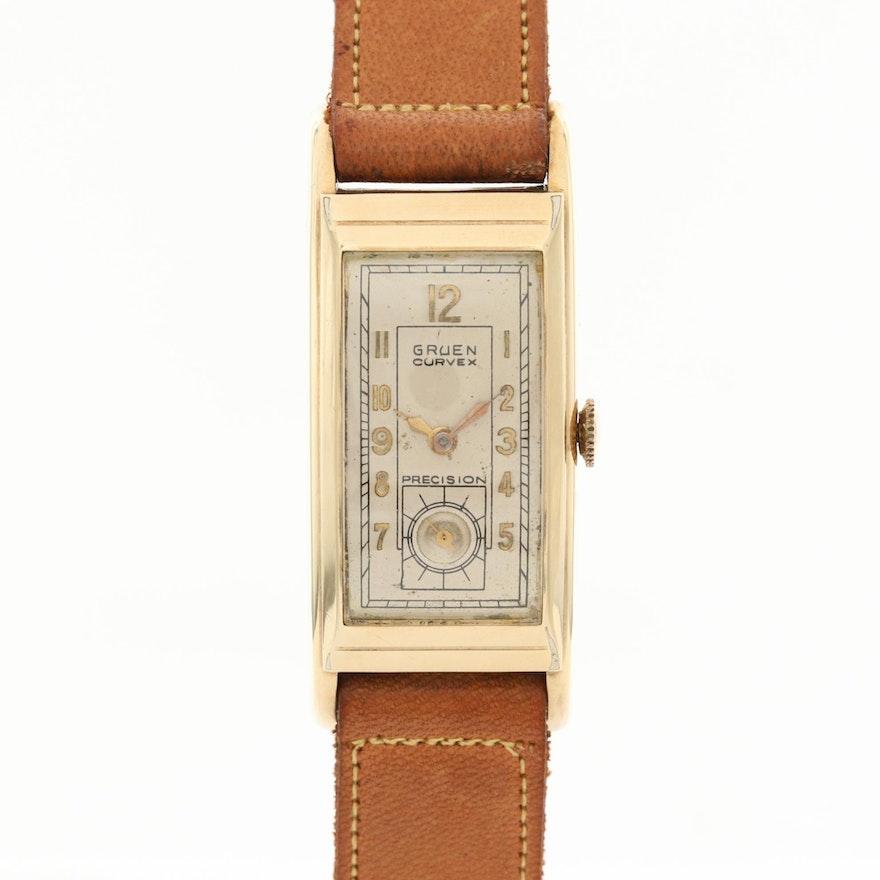 Vintage Gruen Curvex Gold Filled Wristwatch