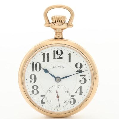Antique Illinois Railroad Grade Bunn Pocket Watch