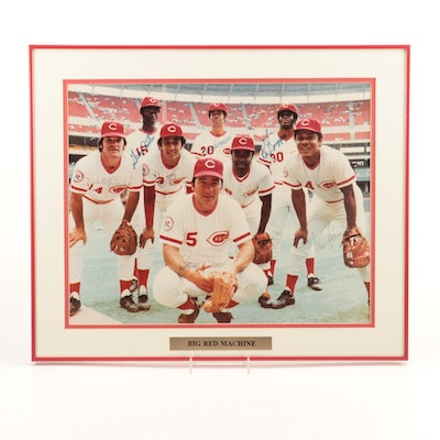"Framed ""Big Red Machine"" Signed Photo Print"