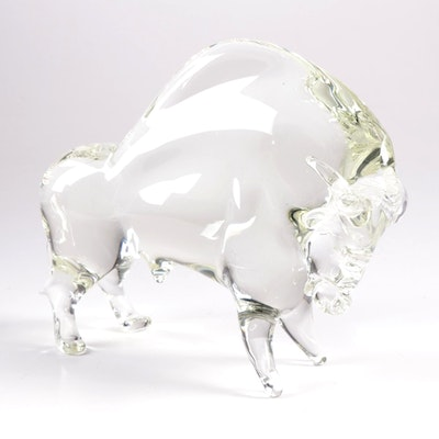 Licio Zanetti Murano Art Glass Bull, Mid to Late 20th Century