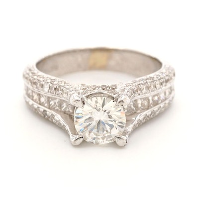 18K White Gold 5.46 CTW Diamond Ring