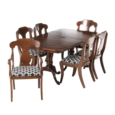Ethan Allen Cherry Dining Set, Late 20th Century