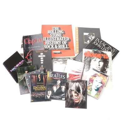 Music Books and DVD's Featuring The Rolling Stones, The Doors and More