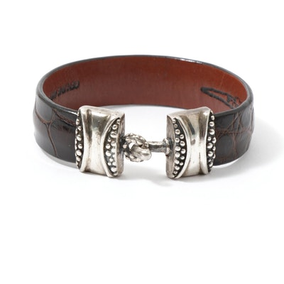 LaBelle Sterling Silver Alligator Bracelet