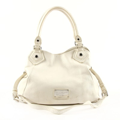 Marc by Marc Jacobs Standard Supply Shoulder Bag in White Pebbled Leather