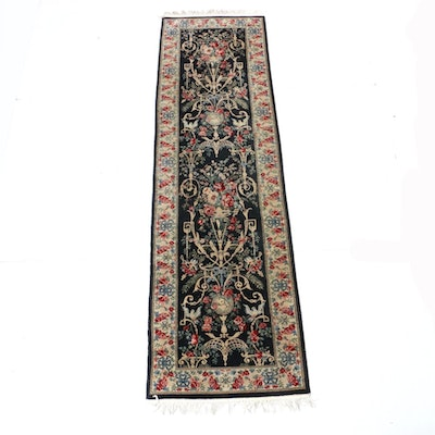 2'6 x 9'5 Hand-Knotted Sino-Persian Tabriz Runner Rug