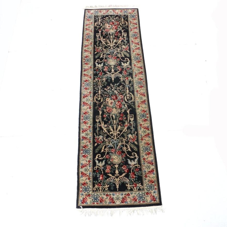 2'6 x 9'5 Hand-Knotted Sino-Persian Tabriz Runner Rug