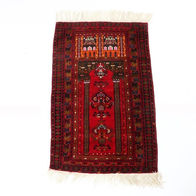 2'10 x 5'5 Hand-Knotted Persian Baluch Prayer Rug