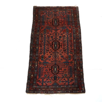 3'4 x 6'4 Hand-Knotted Anatolian Hamadan Rug, Semi-Antique