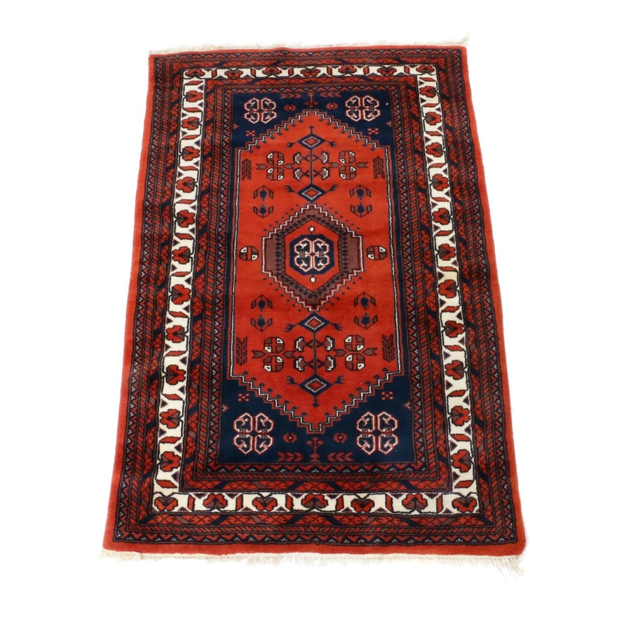 4'2 x 6'6 Hand-Knotted Indo-Persian Khorasan Rug