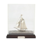 "Seki ""One Mast Yacht"" Sterling Silver 960 Limited Edition Decorative Sailboat"