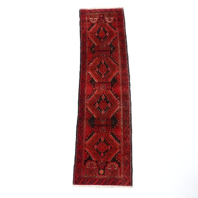1'8 x 6'4 Hand-Knotted Afghani Turkoman Runner, 1970s