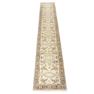 2'6 x 14' Hand-Knotted Turkish Oushak Chobi Runner Rug