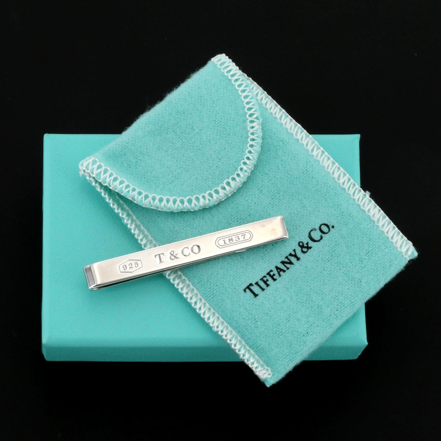 """Tiffany & Co. """"1837 Collection"""" Sterling Silver Tie Bar"""