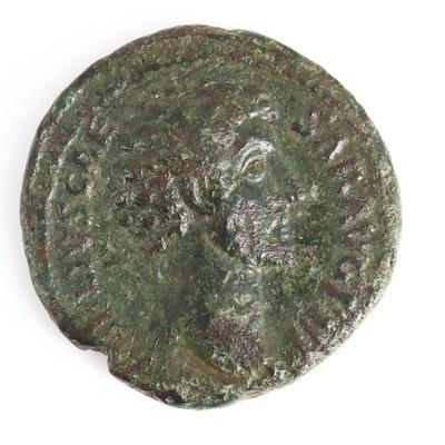 Ancient Roman Imperial AE As Coin of Marcus Aurelius, ca. 149 A.D.