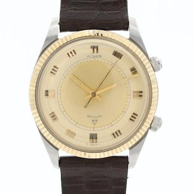 Vintage LeCoultre Memovox Two-Tone Stem Wind Wristwatch