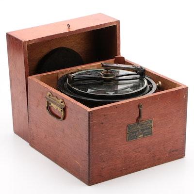 Kelvin-White Illuminated Pelorus Navigator Compass in Mahogany Case, 1920s-1930s