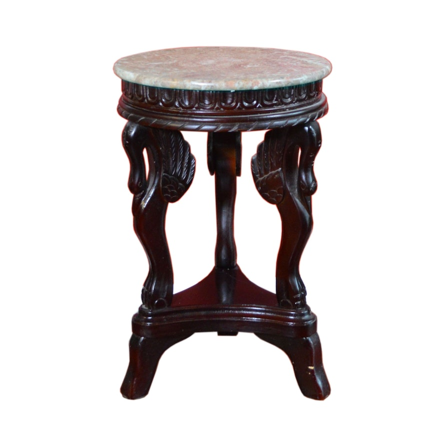 Victorian Style Rosewood Stained Side Table, Late 20th Century