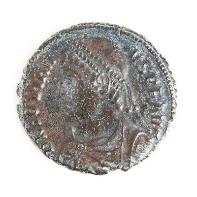 Ancient Roman Imperial AE3 Coin of Jovian, ca. 363 A.D. Heraclea Mint
