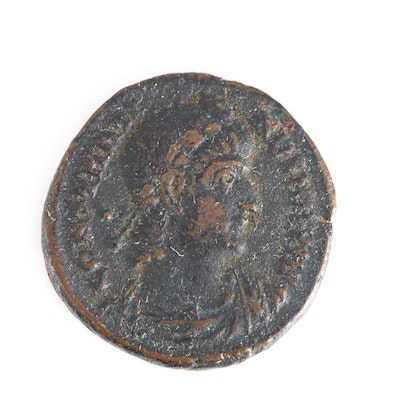 Ancient Roman Imperial AE4 Coin of Constantine I, ca. 336 A.D.