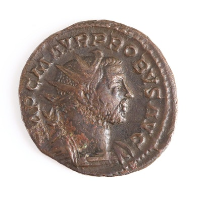 Ancient Roman Imperial AE Antoninianus Coin of Probus, ca. 277 A.D.