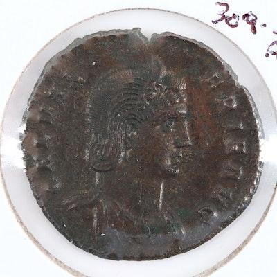 Ancient Roman Imperial AE Follis of Galeria Valeria, ca. 310 A.D.