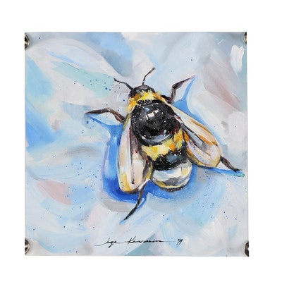 Inga Khanarina Oil Painting of Bee