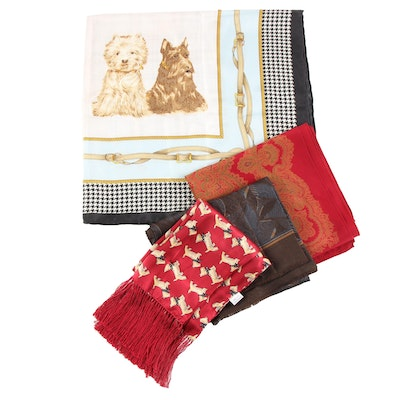 Valentino Silk Opera Scarf and Other Silk Scarves