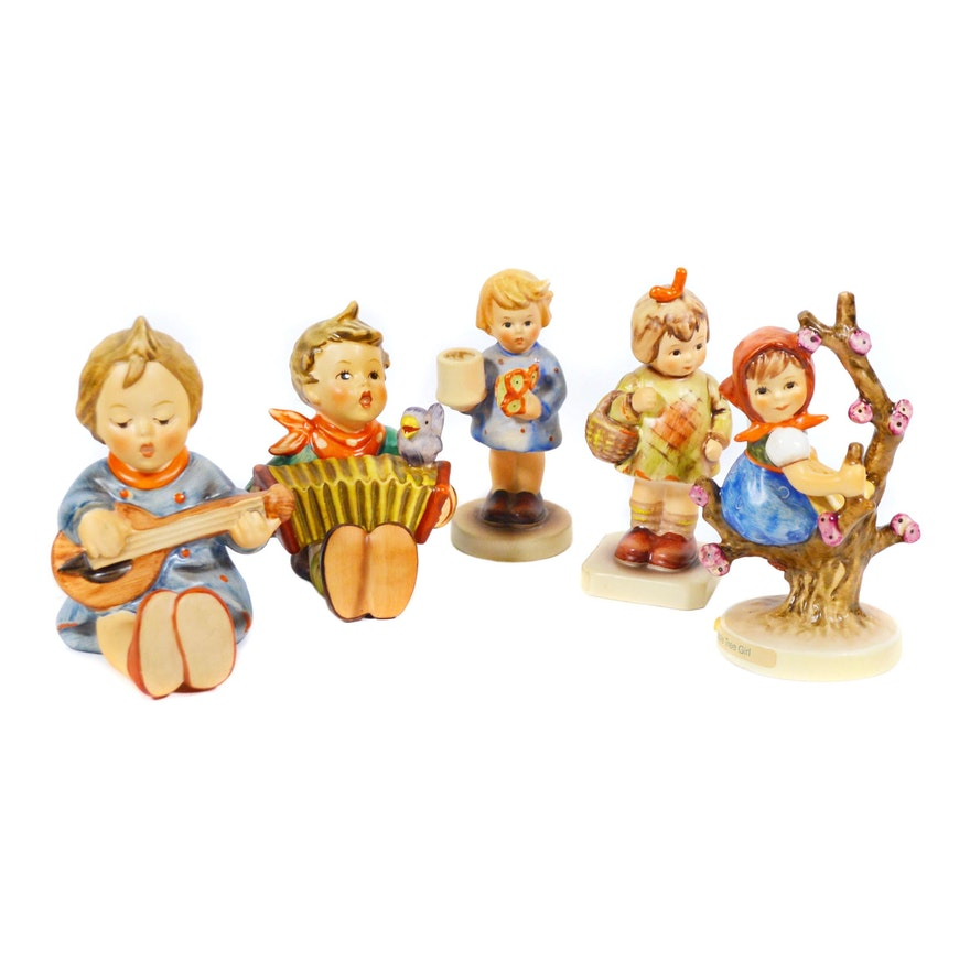"Goebel Hummel ""Joyful"" and Other Porcelain Figurines"