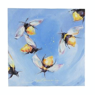 Inga Khanarina Oil Painting of Bees