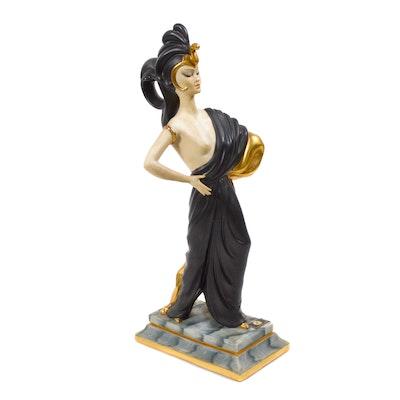 """Capodimonte Art Deco Style """"Ester Bassano"""" Porcelain Figurine"""