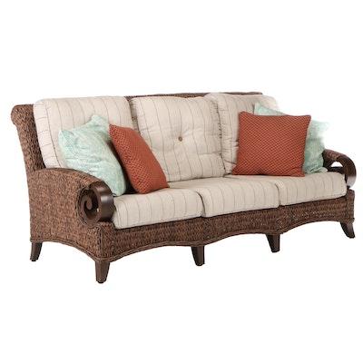 Patio Renaissance Wicker Outdoor Sofa with Cover