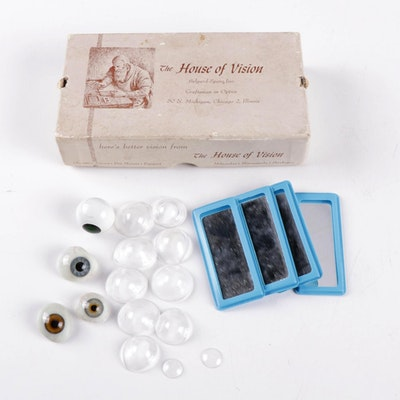 The House of Vision Prosthetic Human Glass Eyes and Corneal Lens Set